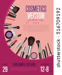 cosmetics product presentation... | Shutterstock .eps vector #516709192