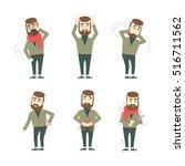 different symptoms set.... | Shutterstock .eps vector #516711562