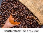 roasted coffee beans | Shutterstock . vector #516712252