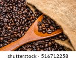 roasted coffee beans | Shutterstock . vector #516712258