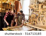 profession  carpentry  woodwork ... | Shutterstock . vector #516713185
