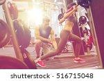 sport  fitness  teamwork ... | Shutterstock . vector #516715048