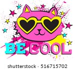 be cool . typography graphic... | Shutterstock .eps vector #516715702