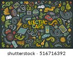 colorful vector hand drawn... | Shutterstock .eps vector #516716392