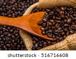 roasted coffee beans | Shutterstock . vector #516716608