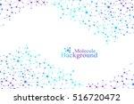modern structure molecule dna.... | Shutterstock .eps vector #516720472
