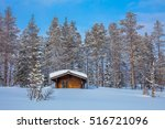 winter forest landscape after... | Shutterstock . vector #516721096