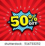 sale vector design  patches in... | Shutterstock .eps vector #516733252