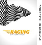 racing background with race... | Shutterstock .eps vector #516735832