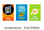 sale flyers set with discount...   Shutterstock .eps vector #516735856
