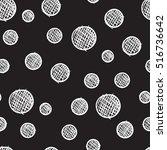 hand drawn  seamless pattern ... | Shutterstock . vector #516736642