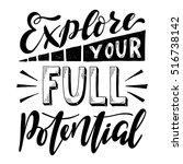 explore your full potential... | Shutterstock .eps vector #516738142