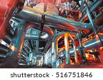 equipment  cables and piping as ... | Shutterstock . vector #516751846