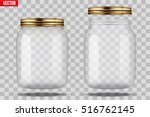 set of glass jars for canning...   Shutterstock .eps vector #516762145