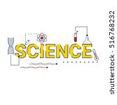 science word typographic... | Shutterstock .eps vector #516768232