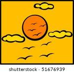 birds and sun | Shutterstock . vector #51676939