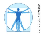 human body vector icon similar... | Shutterstock .eps vector #516773905