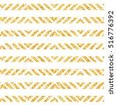 shining golden glitter stripes... | Shutterstock .eps vector #516776392