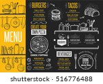 cafe menu food placemat... | Shutterstock .eps vector #516776488