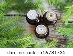 three bottles of essential oil... | Shutterstock . vector #516781735