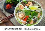 pho tom vietnamese soup with... | Shutterstock . vector #516783412