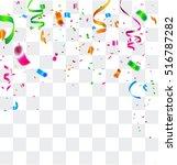 colorful celebration background ... | Shutterstock .eps vector #516787282