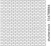 hand drawn brick wall seamless... | Shutterstock .eps vector #516788866