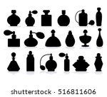 Vector Silhouette Of Perfume...
