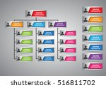 colorful rectangle organization ... | Shutterstock .eps vector #516811702