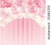 background rose | Shutterstock .eps vector #51681253