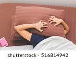woman can't fall asleep because ... | Shutterstock . vector #516814942