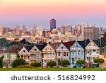 the painted ladies of san... | Shutterstock . vector #516824992