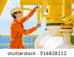 offshore oil and gas operations ... | Shutterstock . vector #516828112