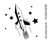 space rocket with stars. black... | Shutterstock .eps vector #516831898