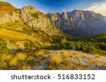 Autumn in the Julian Alps,Mangart peak, Predil Pass, Slovenia  - stock photo