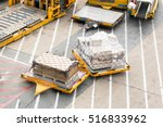 cargo on vehicle wait for... | Shutterstock . vector #516833962
