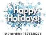 White Happy Holidays Backgroun...