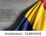 3d rendering of romania flag...   Shutterstock . vector #516841042
