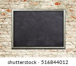 Single Blank Blackboard Frame...