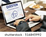faqs customer service icon... | Shutterstock . vector #516845992