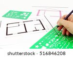project of architecture  of... | Shutterstock . vector #516846208
