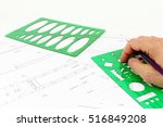 project mechanical drawing  of... | Shutterstock . vector #516849208