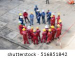 blur group people talking about ... | Shutterstock . vector #516851842