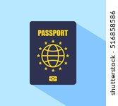 europe passport   Shutterstock .eps vector #516858586