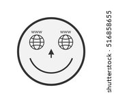 internet smile icon.