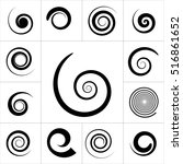 collection of abstract spiral... | Shutterstock .eps vector #516861652