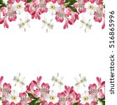 beautiful pattern of white and...   Shutterstock . vector #516865996
