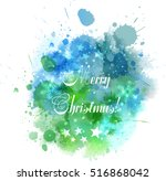 watercolor christmas background ... | Shutterstock .eps vector #516868042