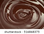 melted chocolate swirl ... | Shutterstock . vector #516868375