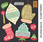 christmas tag   labels | Shutterstock .eps vector #516870085